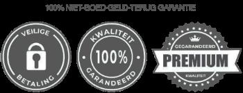 Veilig betalen 100% kwaliteit trust badge